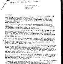 Image of Letter written by Ellie Winters about Bert Booker