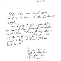 Image of Letter by Doris Jones