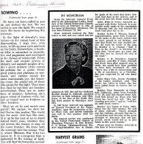 Image of Memoriam of Ila Ashcroft- Pentecostal Herald 1964