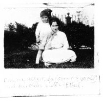 Image of Calvin S. Albert (Age 3) standing by his oldest sister, Ethel