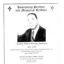 Image of Homegoing Service and Memorial Tribute- Bishop Arthur M. Anderson