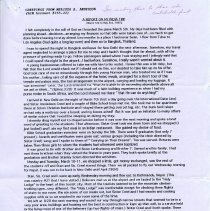 Image of Page 1 of Melissa Anderson's Report on India