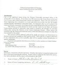 Image of Status of Historical Preservation Efforts Survey- Nebraska District