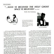 Image of Article by Ann Armstrong- Christian Outlook