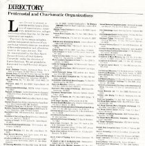 Image of Directory for Pentecostal and Charismatic Organizations
