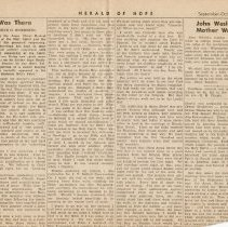 Image of Herald of Hope newspaper articles