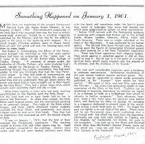 Image of Something Happened on January 1, 1901