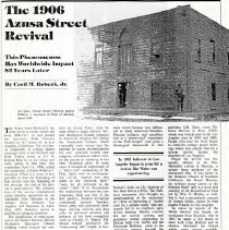 Image of The 1906 Azusa Street Revival- Cecil M. Robeck, Jr.
