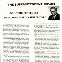 Image of The Superintendent Speaks Article - T.F. Tenney