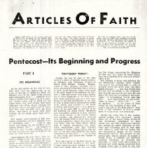 """Image of """"Articles of Faith""""- The Pentecostal Herald, March 1953"""