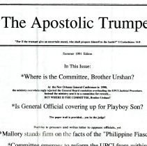 Image of Apostolic Trump flier, front 1