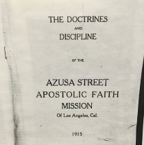 Image of Azusa Street Revival Collection - 2000.96.1
