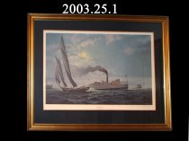 "Image of Painting by John Barber, ""Moonlight Run""  Print #149/950"