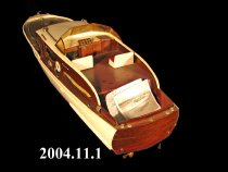 Image of Chris Craft model built by William Gerhardt in the 1950's.