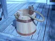 Image of Wooden bucket made for EXPLORE