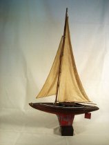 Image of Boat, Pond - Pond yacht model   40% Damaged in 2012 fire.  Can be repaired.