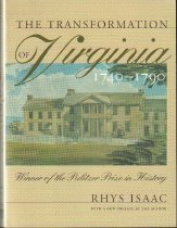 Image of The Transformation of Virginia 1740-1790 - Isaac, Rhys