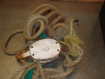 Image of Hoist - Block & Tackle in fair condition, some rust.