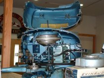 Image of Motor, Outboard - Evinrude Fastwin 1956 15 Hp