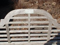 Image of Bench, Park - Wooden Bench In Memory of Mary Lou Lindsey