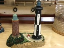 "Image of Lighthouse - Ceramic Replica/Model of Cape Henry Lighthouse. Approx.7"" tall."
