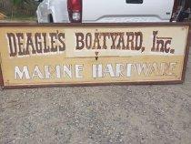 Image of Sign, Trade - Large Sign of Deagle's Boatyard