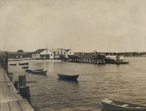 Image of Wellfleet Harbor, the Sealshipt Wharf buildings - W0081