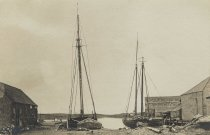 Image of Wellfleet Harbor; the Sealshipt Wharf buildings - W0082