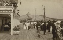 Image of On the boardwalk of the Chequesset Inn - W0089