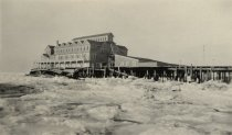 Image of Chequesset Inn destroyed by ice