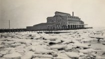 Image of Chequesset Inn destroyed by ice, March 1934/1939