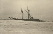 """Image of Schooner, """"Daniel B. Fearing"""" wrecked off Cahoon Hollow, May 1896 - W0139"""