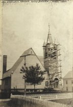 Image of The Methodist Church being painted circa 1900 - W0267