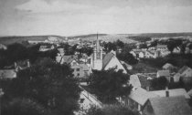 Image of View of Wellfleet towards the inlet, Methodist Church Spires - W0270