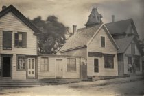 Image of Post Office, Dr. Bell's office upstairs - Main St corner opposite Market - W0400