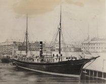 Image of Steamship L.D. Baker - burned at sea - W0416