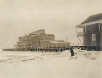 Image of Waldo Taylor standing in the snow at Chequesset Inn - W0418