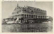 Image of Chequesset Inn after ice storm - W0445