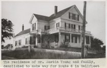 Image of The residence of Mr. Austin Young and family, demolished to make way for Rt - W0502
