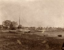 Image of Duck Creek Inlet looking toward the Congregational Church - W0520