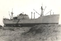 Image of Freighter Monica Smith Aground at Provincetown (1960) - W0755