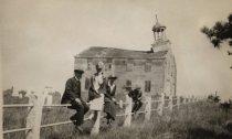 Image of South Wellfleet Meeting House in disrepair - W0894
