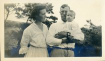Image of Mother, father and daughter. Camp Chequesset 1916-1917 - W1392