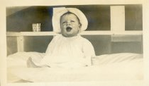 Image of The jolliest baby I know. Helen Belding. Camp Chequesset 1916-1917 - W1393