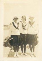 Image of Bunny, Johnny, Dotha  Three good sailors. Camp Chequesset 1916-1917 - W1412