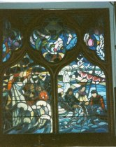 Image of Some of the lovely windows in the Methodist Church. - W1594