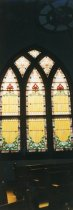 Image of Some of the lovely windows in the Methodist Church. - W1596