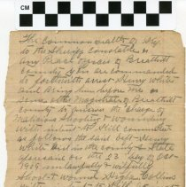 Image of Inside of Arrest Warrant for Henry White- scale