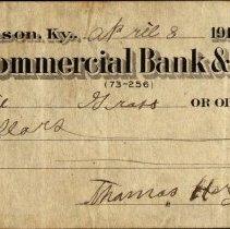Image of Check, Bank - 2005.1.6