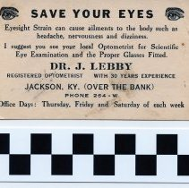 Image of Business Card for Dr. J. Lebby 2